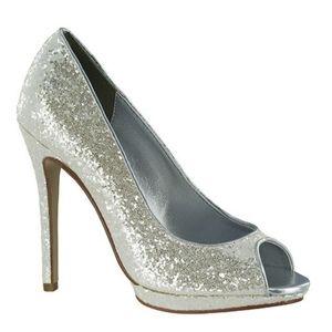 Sequin wedding heels